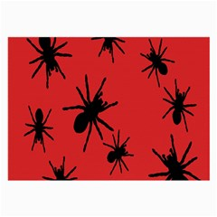 Illustration With Spiders Large Glasses Cloth (2 Side)