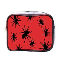 Illustration With Spiders Mini Toiletries Bags by Nexatart
