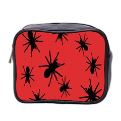 Illustration With Spiders Mini Toiletries Bag 2 Side by Nexatart
