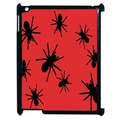 Illustration With Spiders Apple Ipad 2 Case (black) by Nexatart