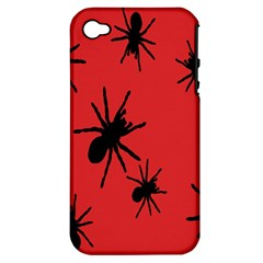Illustration With Spiders Apple Iphone 4/4s Hardshell Case (pc+silicone) by Nexatart