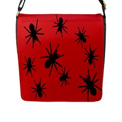 Illustration With Spiders Flap Messenger Bag (l)  by Nexatart