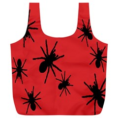 Illustration With Spiders Full Print Recycle Bags (l)  by Nexatart