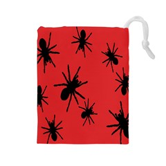 Illustration With Spiders Drawstring Pouches (large)