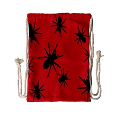 Illustration With Spiders Drawstring Bag (small) by Nexatart