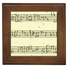 Music Notes On A Color Background Framed Tiles by Nexatart