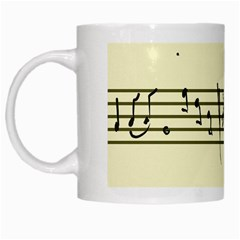 Music Notes On A Color Background White Mugs by Nexatart