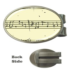 Music Notes On A Color Background Money Clips (oval)  by Nexatart