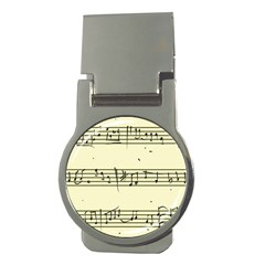 Music Notes On A Color Background Money Clips (round)  by Nexatart