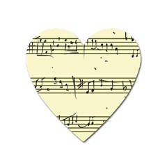 Music Notes On A Color Background Heart Magnet by Nexatart