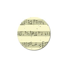 Music Notes On A Color Background Golf Ball Marker (4 Pack) by Nexatart