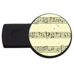Music Notes On A Color Background Usb Flash Drive Round (2 Gb) by Nexatart