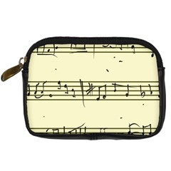 Music Notes On A Color Background Digital Camera Cases by Nexatart
