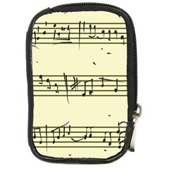 Music Notes On A Color Background Compact Camera Cases