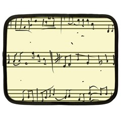 Music Notes On A Color Background Netbook Case (xl)  by Nexatart