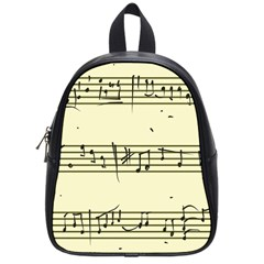 Music Notes On A Color Background School Bags (small)