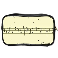 Music Notes On A Color Background Toiletries Bags 2 Side by Nexatart