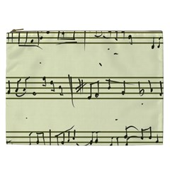 Music Notes On A Color Background Cosmetic Bag (xxl)  by Nexatart