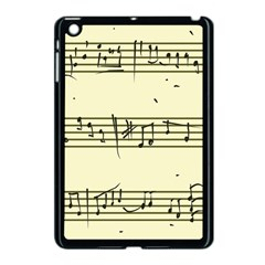 Music Notes On A Color Background Apple iPad Mini Case (Black) by Nexatart