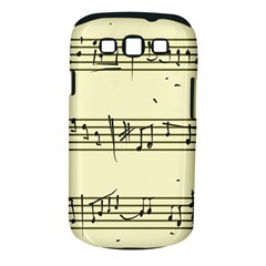 Music Notes On A Color Background Samsung Galaxy S Iii Classic Hardshell Case (pc+silicone)