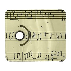 Music Notes On A Color Background Galaxy S3 (flip/folio) by Nexatart
