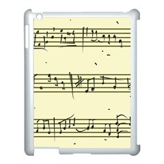 Music Notes On A Color Background Apple Ipad 3/4 Case (white) by Nexatart