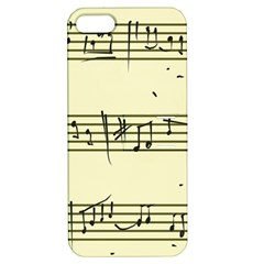 Music Notes On A Color Background Apple Iphone 5 Hardshell Case With Stand