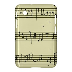 Music Notes On A Color Background Samsung Galaxy Tab 2 (7 ) P3100 Hardshell Case