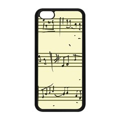Music Notes On A Color Background Apple Iphone 5c Seamless Case (black) by Nexatart