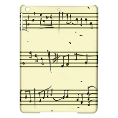Music Notes On A Color Background Ipad Air Hardshell Cases by Nexatart