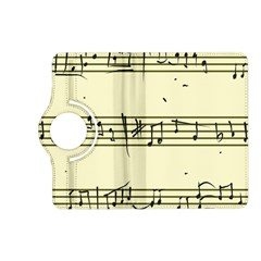 Music Notes On A Color Background Kindle Fire Hd (2013) Flip 360 Case by Nexatart