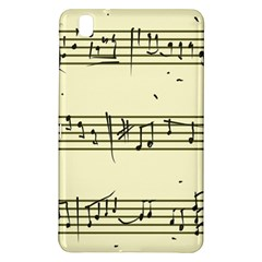 Music Notes On A Color Background Samsung Galaxy Tab Pro 8 4 Hardshell Case