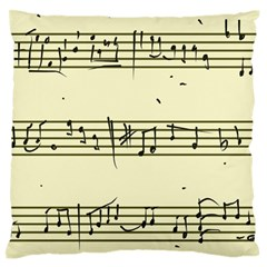 Music Notes On A Color Background Large Flano Cushion Case (one Side) by Nexatart