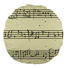 Music Notes On A Color Background Large 18  Premium Flano Round Cushions