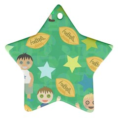 Football Kids Children Pattern Ornament (star)