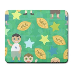 Football Kids Children Pattern Large Mousepads by Nexatart