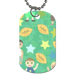 Football Kids Children Pattern Dog Tag (two Sides) by Nexatart