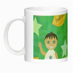 Football Kids Children Pattern Night Luminous Mugs