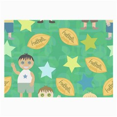 Football Kids Children Pattern Large Glasses Cloth by Nexatart