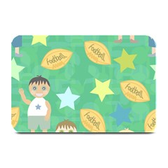 Football Kids Children Pattern Plate Mats by Nexatart