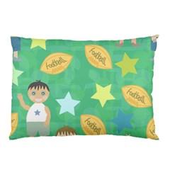 Football Kids Children Pattern Pillow Case by Nexatart