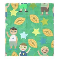 Football Kids Children Pattern Shower Curtain 66  X 72  (large)  by Nexatart