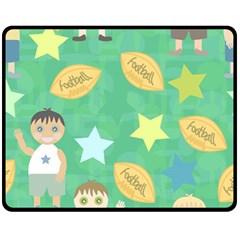 Football Kids Children Pattern Fleece Blanket (medium)  by Nexatart