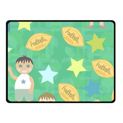 Football Kids Children Pattern Fleece Blanket (small)