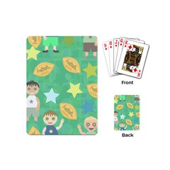 Football Kids Children Pattern Playing Cards (mini)  by Nexatart