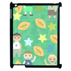 Football Kids Children Pattern Apple Ipad 2 Case (black) by Nexatart