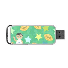 Football Kids Children Pattern Portable Usb Flash (two Sides) by Nexatart