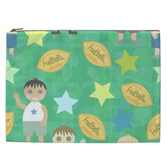 Football Kids Children Pattern Cosmetic Bag (xxl)  by Nexatart