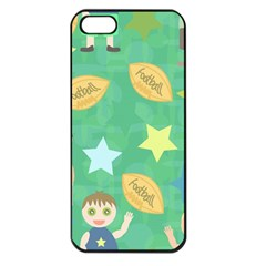 Football Kids Children Pattern Apple Iphone 5 Seamless Case (black) by Nexatart