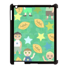 Football Kids Children Pattern Apple Ipad 3/4 Case (black) by Nexatart